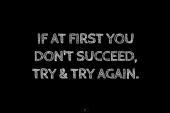 Always keep trying