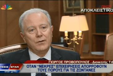 ΒΙΝΤΕΟ-Προβόπουλος: Όχι δάνεια σε υπερχρεωμένες επιχειρήσεις