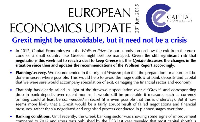 Οι μηχανισμοί του Grexit