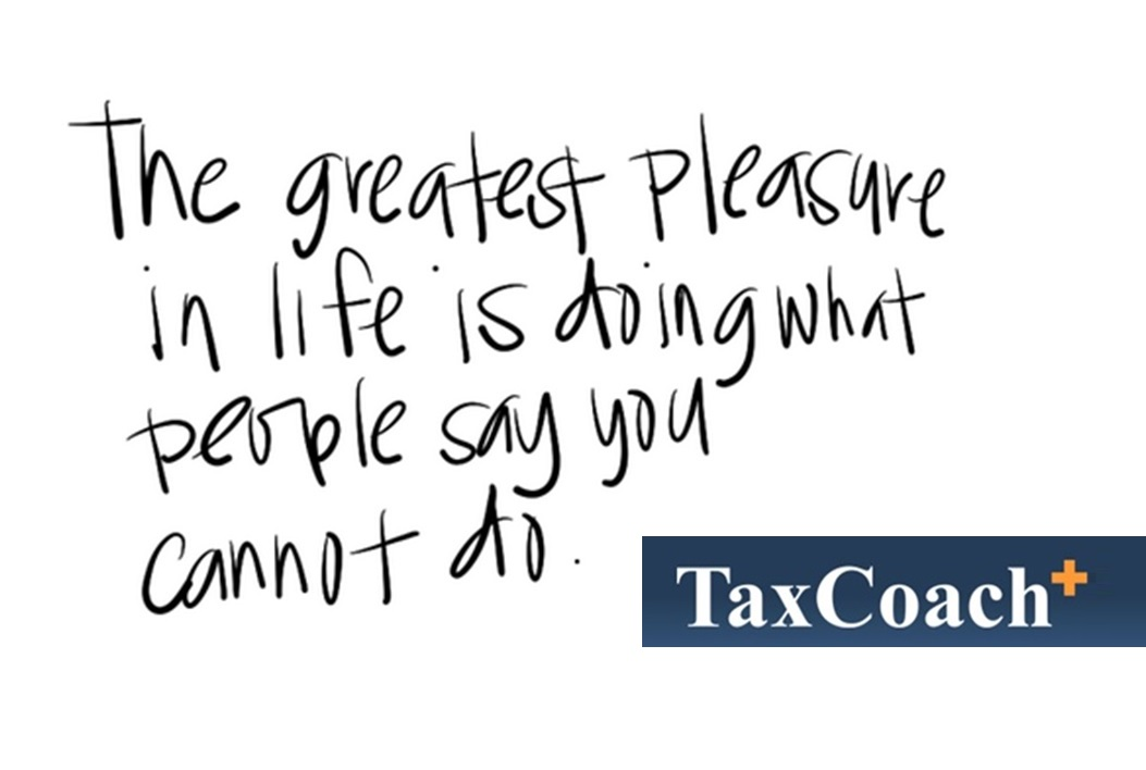 The greatest pleasure in life, is doing what people say you cannot do!