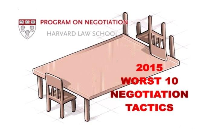 Οι 10 Χειρότερες Διαπραγματευτικές Τακτικές του 2015
