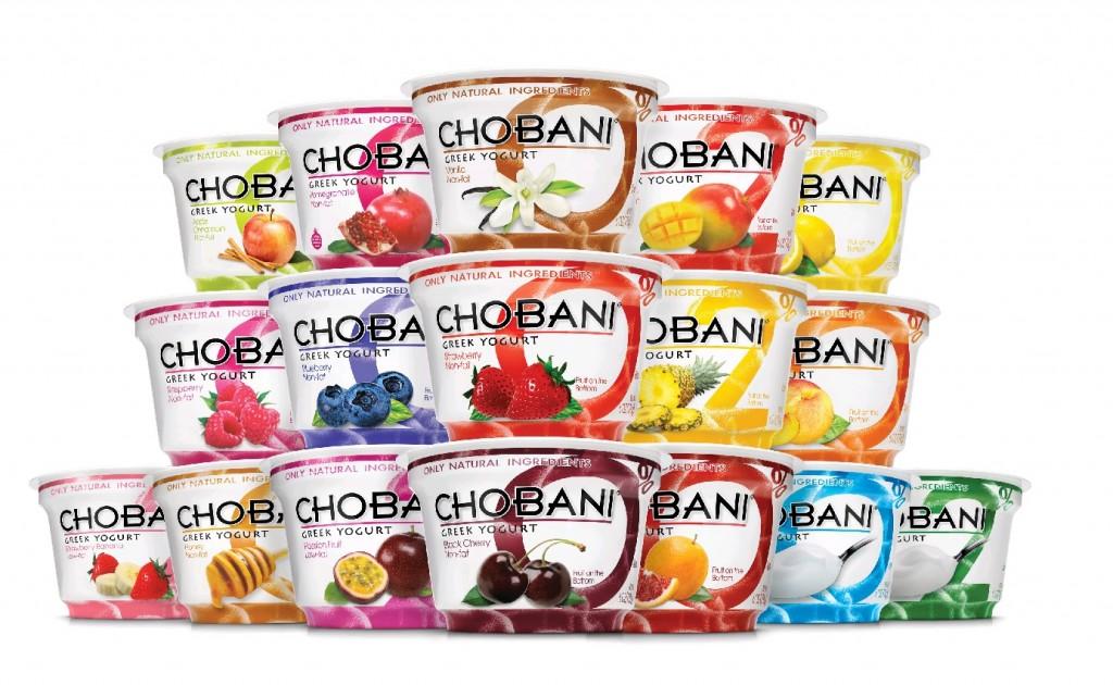 chobani yoghurts