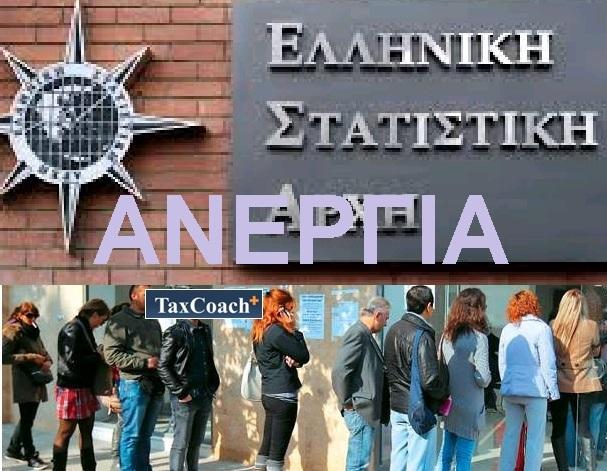 ΕΛΣΤΑΤ: Μείωση της Ανεργίας τον Απρίλιο 2018 στο 20,2%