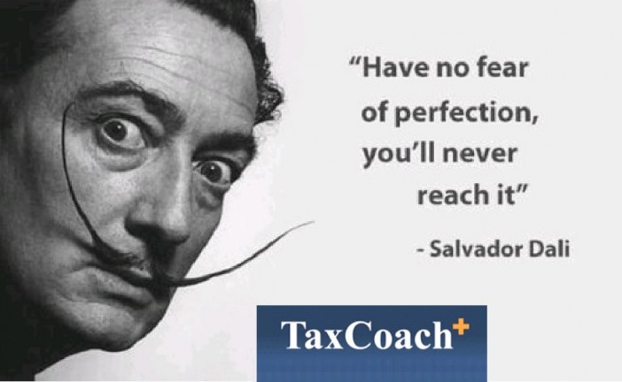 Have no fear of perfection ; you'll never reach it. – Salvador Dali