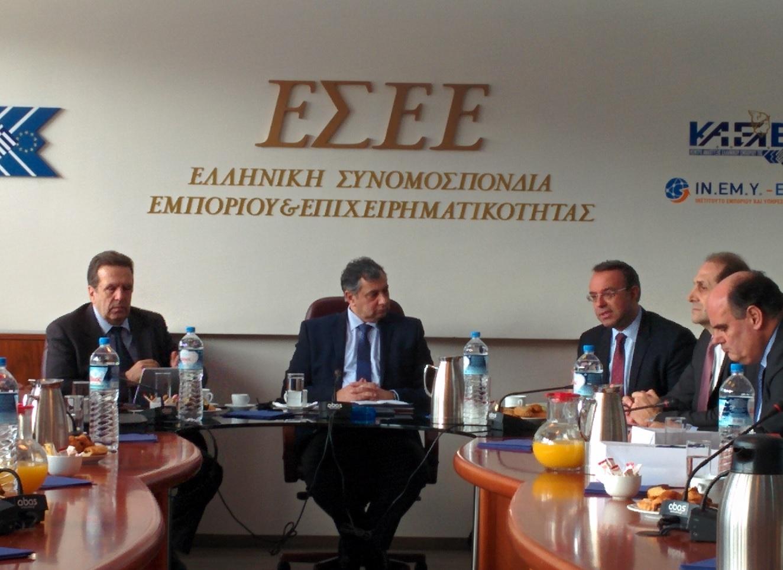 Επίσκεψη του οικονομικού επιτελείου της Νέας Δημοκρατίας στα γραφεία της ΕΣΕΕ