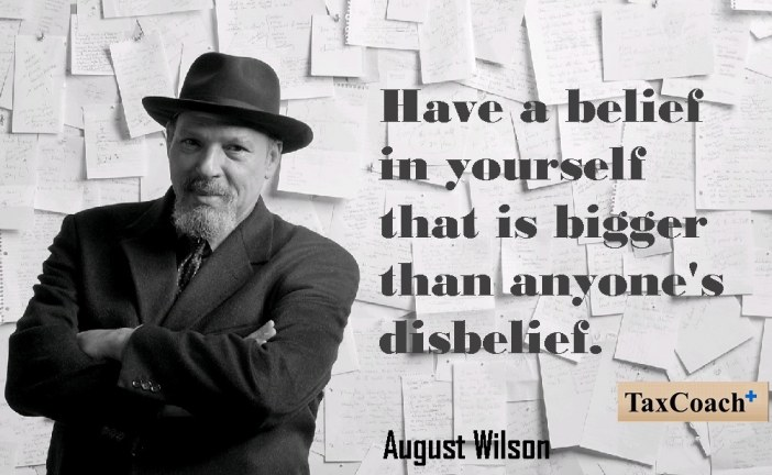 Have a belief in yourself that is bigger than anyone's disbelief