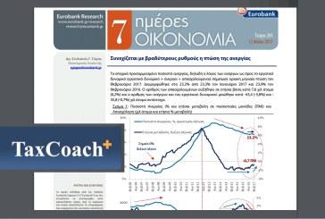Eurobank 7 Ημέρες Οικονομία: Συνεχίζεται με βραδύτερους ρυθμούς η πτώση της ανεργίας