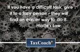 If you have a difficult task, give it to a lazy person – they will find an easier way to do it.