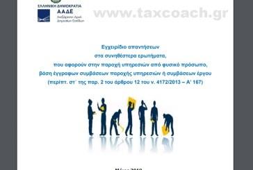 Εγχειρίδιο ΑΑΔΕ με απαντήσεις για τα μπλοκάκια του άρθρου 12.2