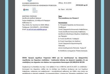 Ορισμός αρμόδιων υπηρεσιών ΕΦΚΑ για τον προσδιορισμό της εφαρμοστέας νομοθεσίας των δημοσίων υπαλλήλων – Διαδικασία έκδοσης του φορητού εγγράφου Α1 …