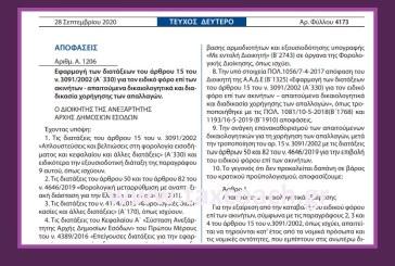 Α. 1206: Εφαρμογή των διατάξεων του άρθρου 15 του ν. 3091/02 για τον ειδικό φόρο επί των ακινήτων – απαιτούμενα δικαιολογητικά και διαδικασία χορήγησης των απαλλαγών.