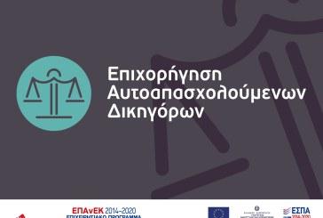 Νέα Δράση ΕΠΑνΕΚ: Επιχορήγηση Αυτοαπασχολούμενων Δικηγόρων
