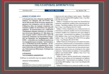 Ν. 4818/21: Ρυθμίσεις όσον αφορά υποχρεώσεις που απορρέουν από τον ΦΠΑ για παροχές υπηρεσιών και πωλήσεις αγαθών εξ αποστάσεως